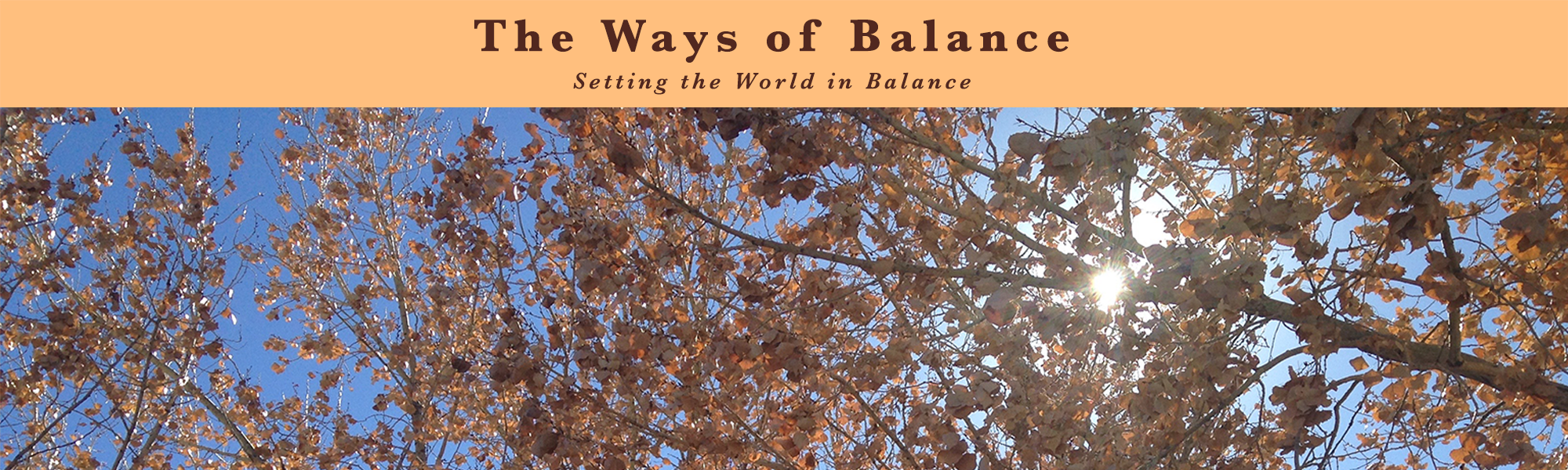 The Ways of Balance